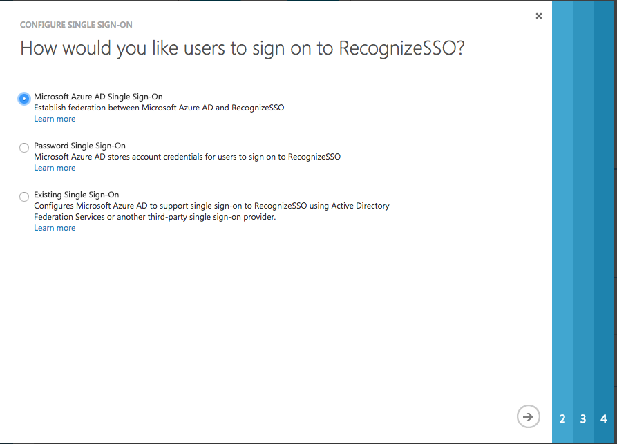Setting up single sign on(SSO) with Azure Active Directory